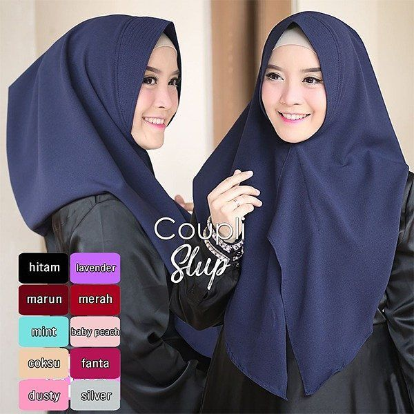 Jilbab Instant Coupli Slup Jilbab Instant 1x Slup Dengan Soft Pad