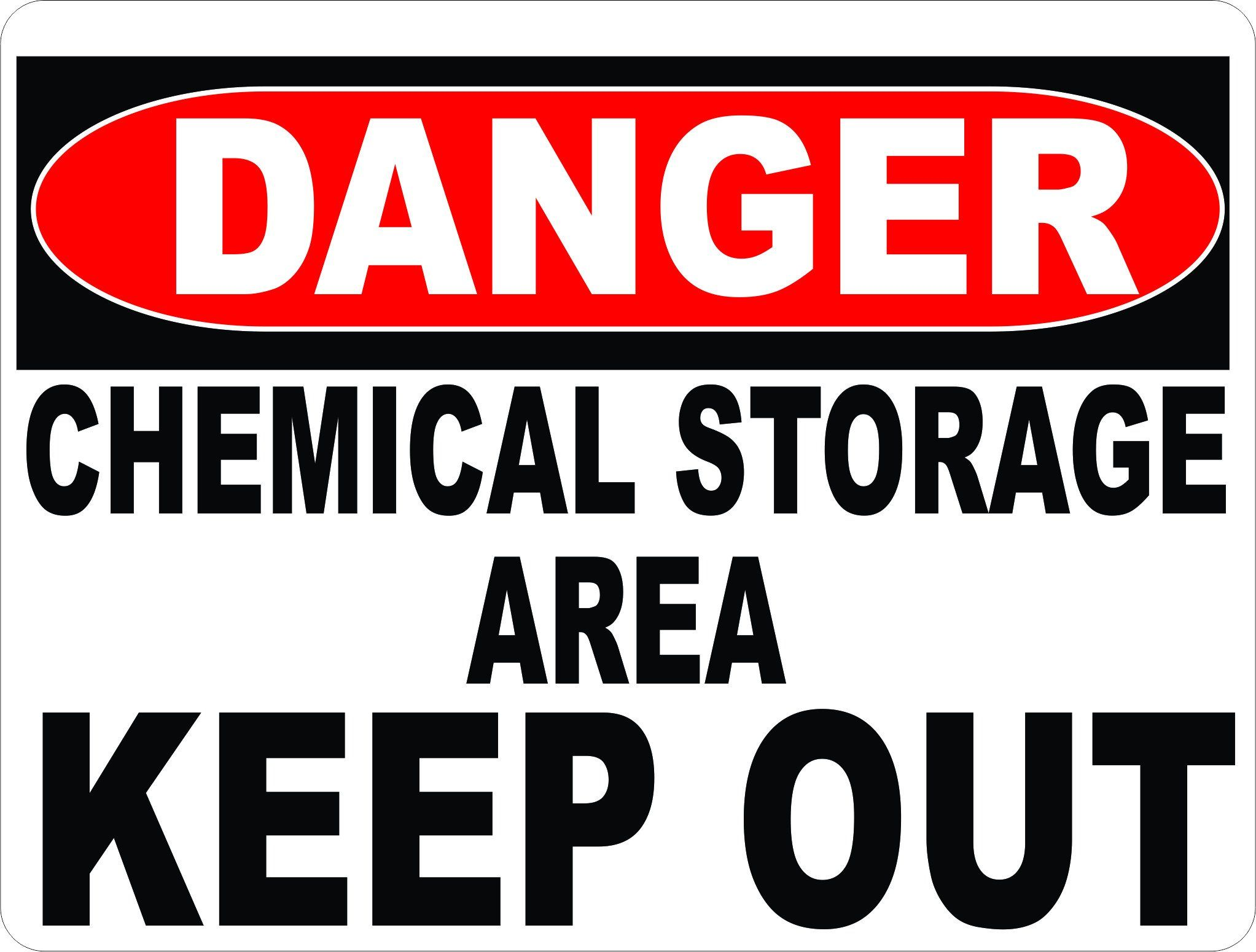 Danger Chemical Storage Area Keep Out Sign Chemical Dangerous Workplace Safety