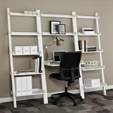 Image Result For White Ladder Shelf Farm Desk Leaning Desk Shelving Home
