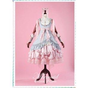 Mermaid~ Lolita JSK Fullset [--Surface JSK Dress +  Inner JSK Dress + Headbow + Choker + Wristcuffs--]  -Pre-order