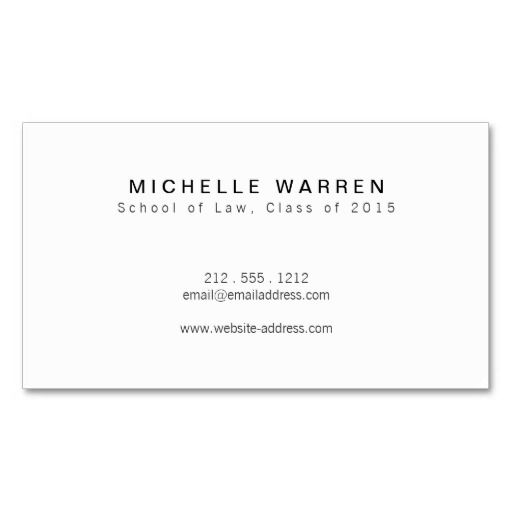 Modern Initials I Graduate Student Business Card Zazzle Com Student Business Cards Business Cards Business