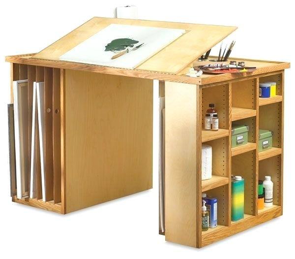 Artist Tables With Storage Best Craft, Art Desk With Storage