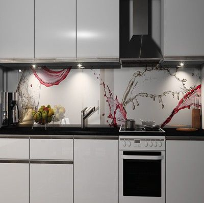 Küchenrückwand Folie Möbel \ Wohnen Kuechenrueckwand Folien 717793 - spritzschutz folie k che