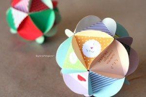 Bola Scrapbook ~ carta + dulces + detalle