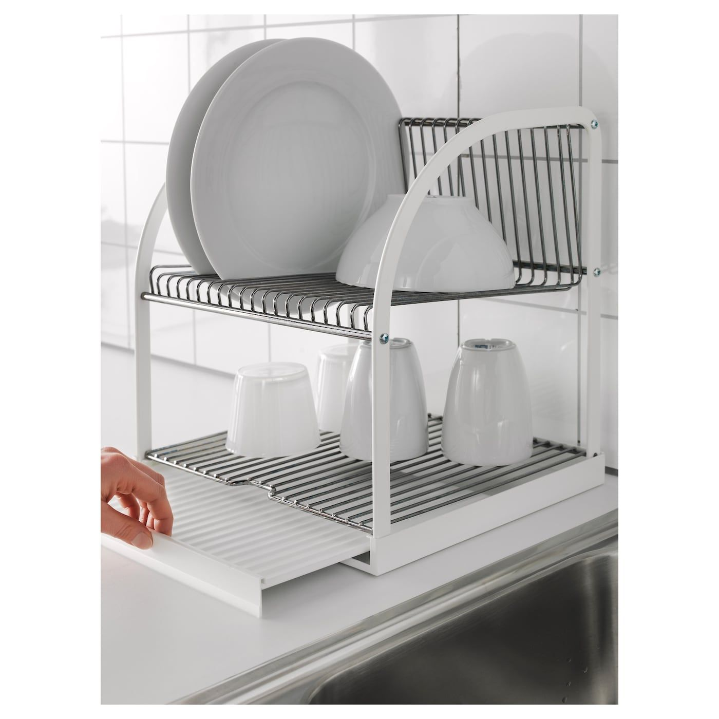 Bestaende Dish Drainer Silver Color White Ikea Dish Drainers Dish Rack Drying Kitchen Utensils Design