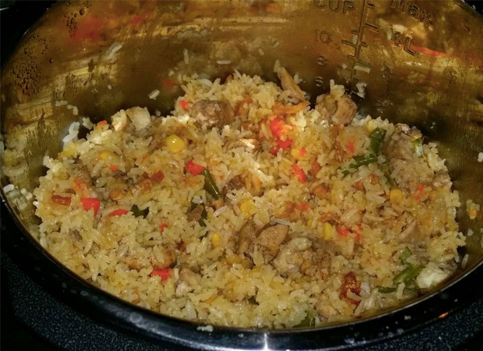 Fried Rice In The Instant Pot 2 Cups Or Rice Wash And Rinse Well 2 Cups Of Bonele With Images