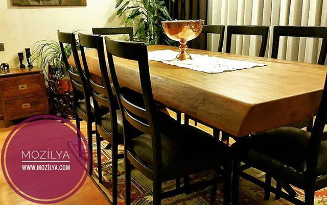 mozilya iroko agaci dogal ahsap masa mozilya iroko natural wooden dining table tasarim ahsap masa mobilya