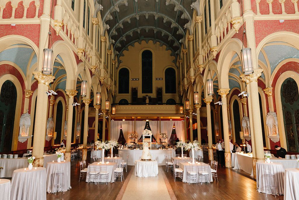 Sacred Heart Cultural Center wedding reception. Augusta