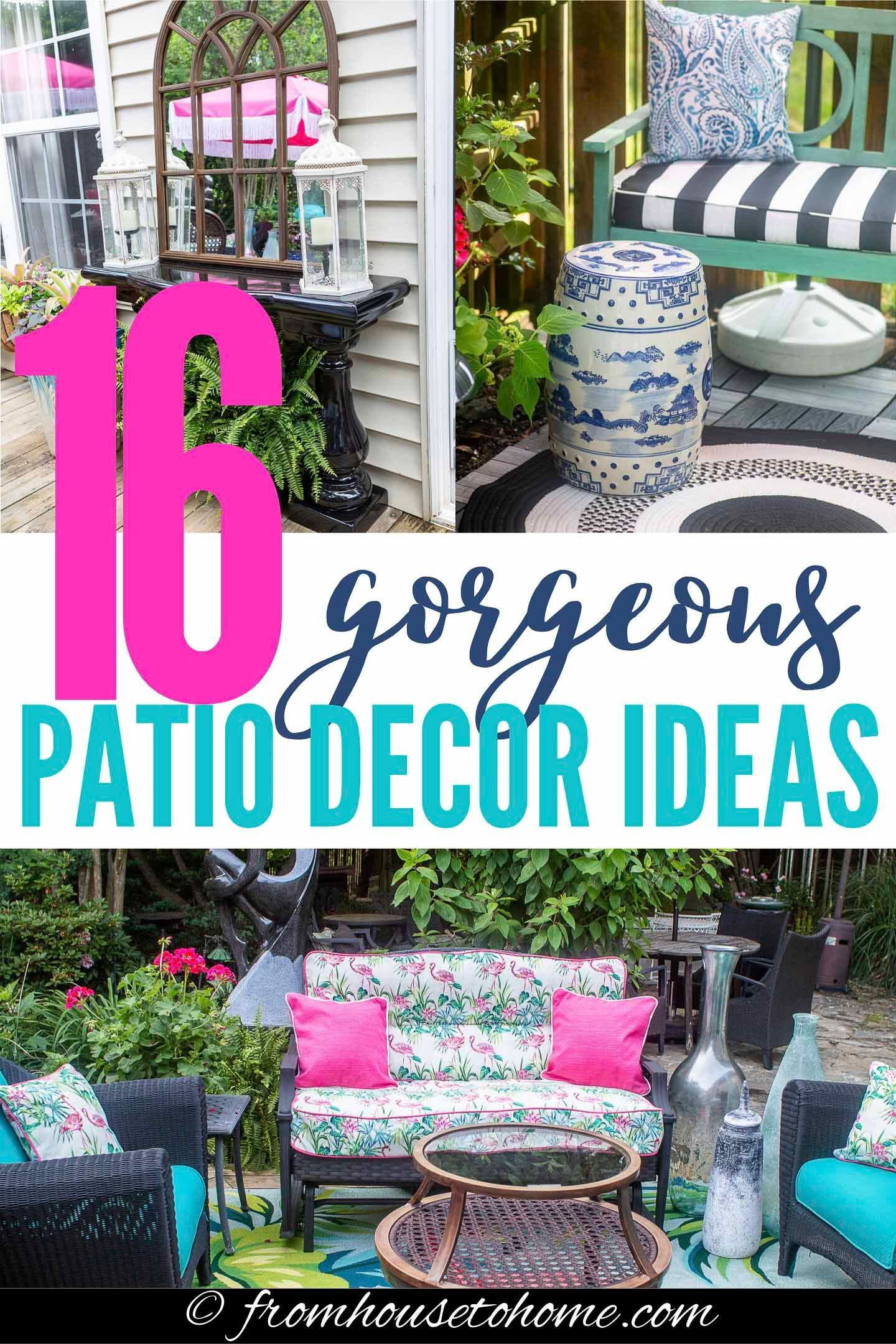 Small Patio Decorating Ideas That Make Your Deck Into An ...