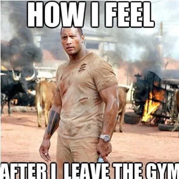 How I feel after I leave the gym. #the rock | Stay fit ...