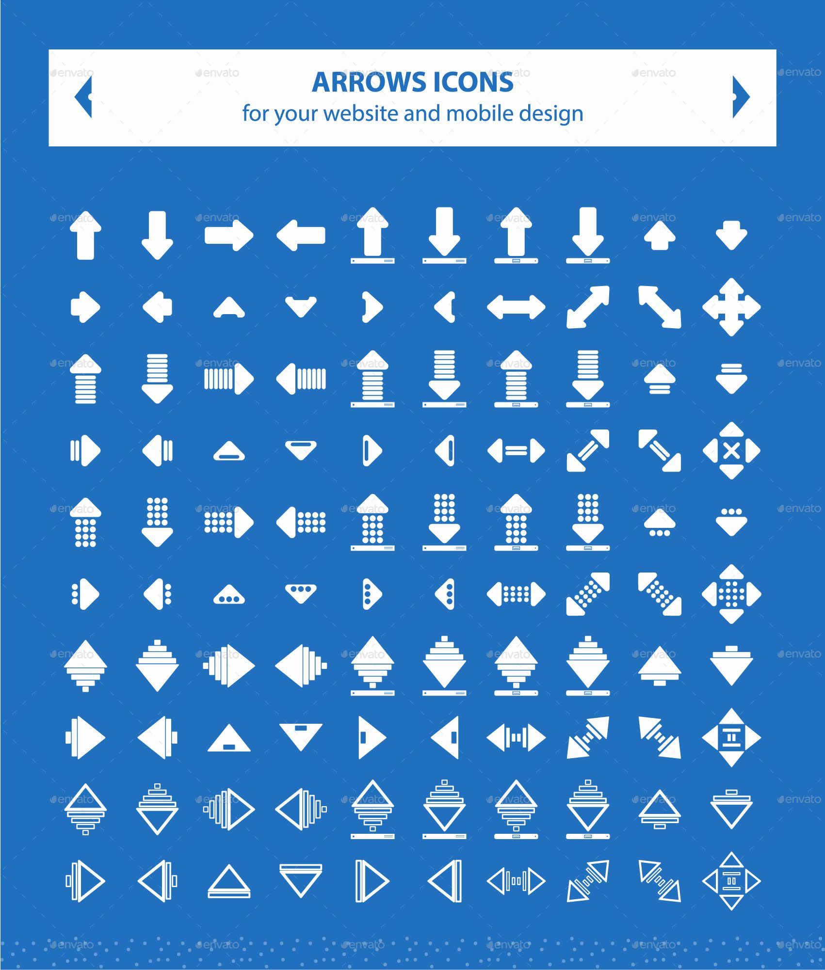 Directions Arrows Icons (Part2) (With images) Icon set