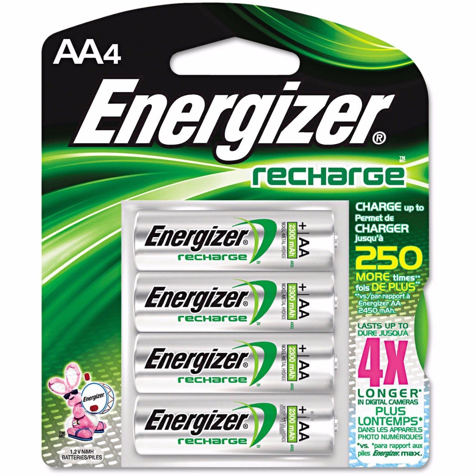 Aa4 Aa Energizer 2300 Mah Rechargeable Nimh Batteries Exp 2021 4 Pack Energizer Battery Rechargeable Batteries Energizer