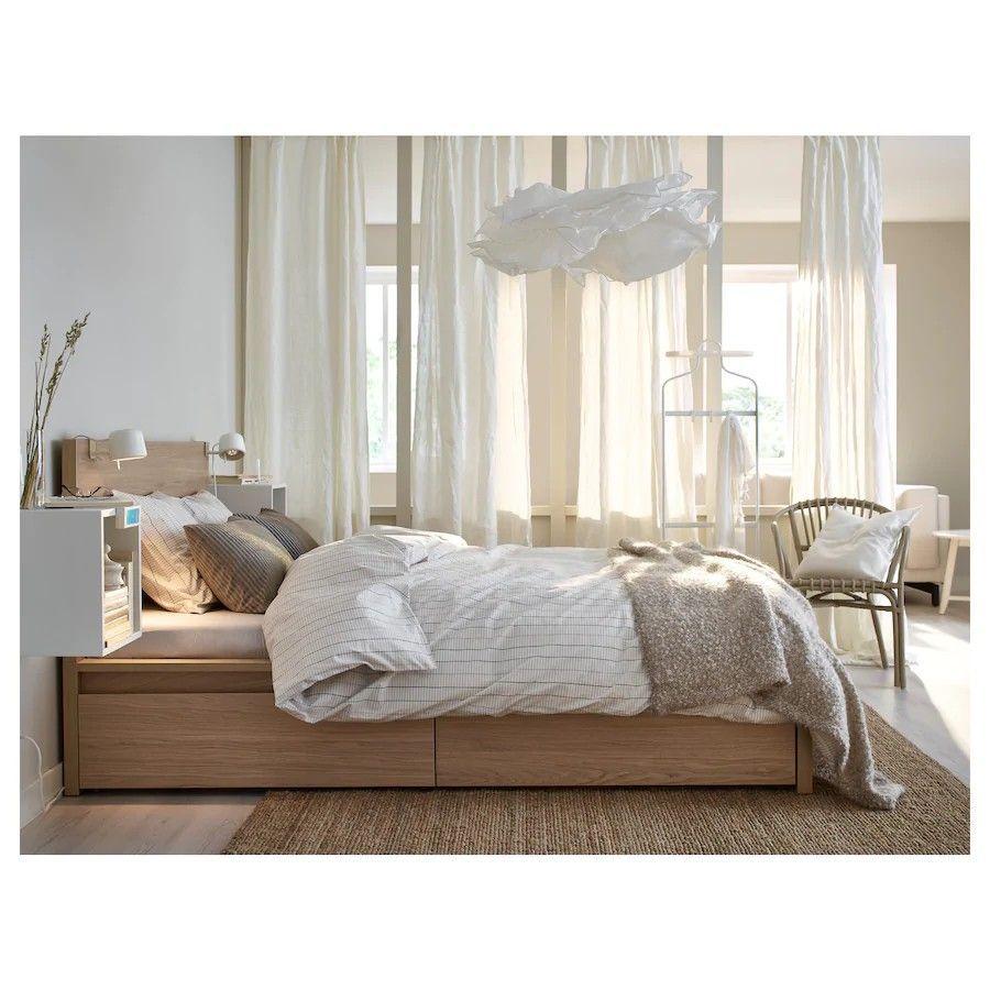 Schlafzimmermalm In 2020 Malm Bett Ikea Malm Bett Eichenschlafzimmer