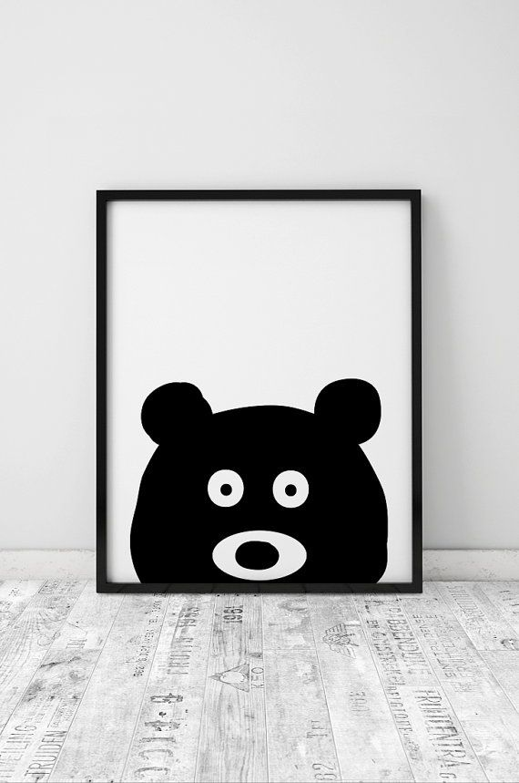 Nursery Prints Wall Art Printable Decor Black And White Kid S Room