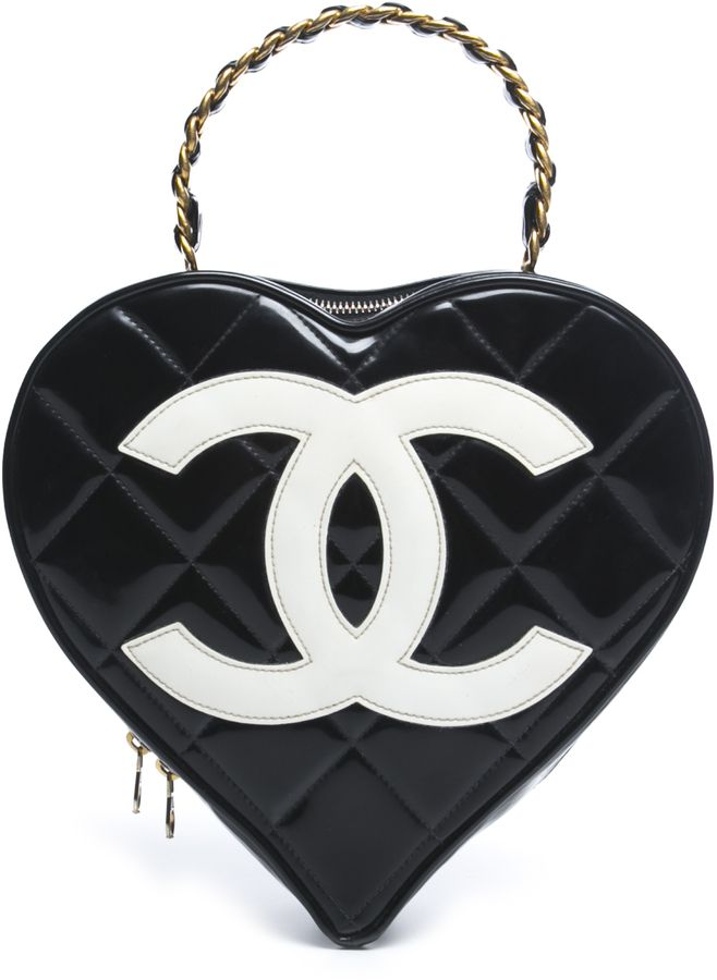 Chanel Vintage Patent Leather Heart Shaped Bag by Chanel Chanel Vintage Patent  Leather Heart Shaped Bag by Chanel 7f13c8e3173d9