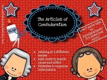 A discussion of the importance and impact of the articles of confederation