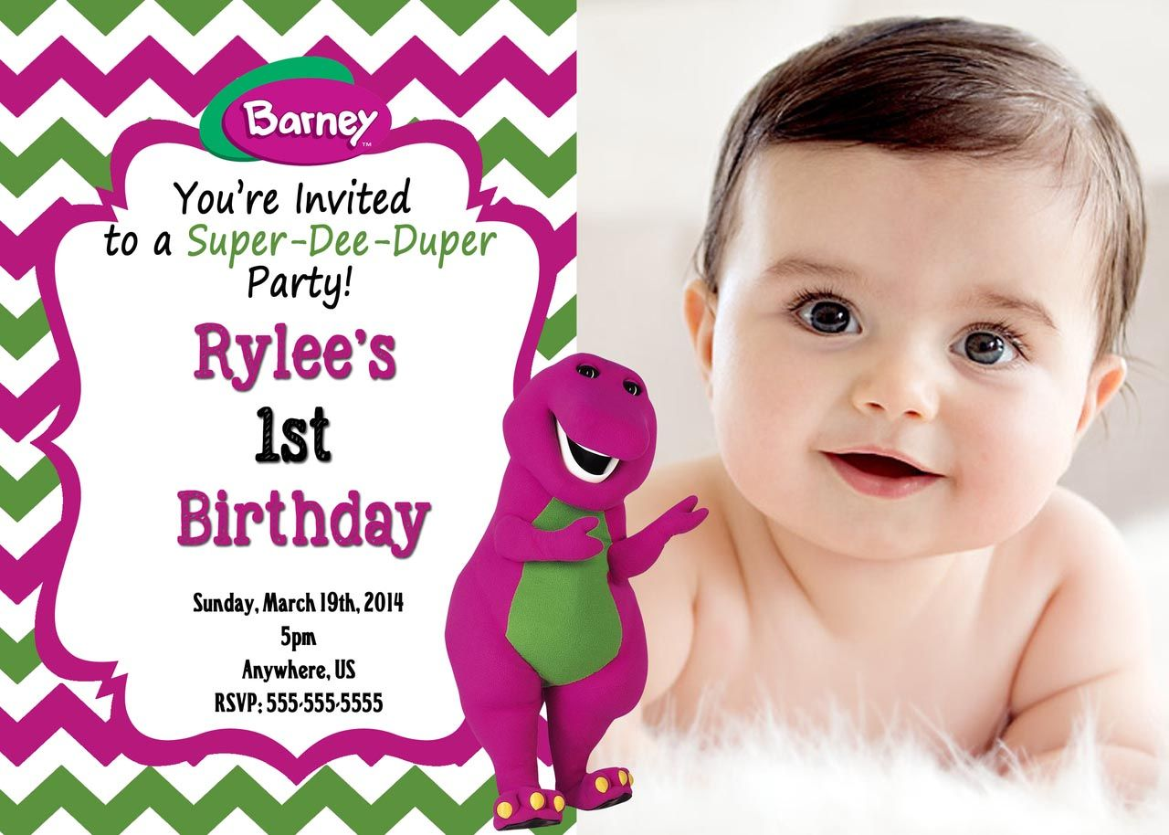 Barney invitations birthday party birthday party pinterest barney invitations birthday party monicamarmolfo Images