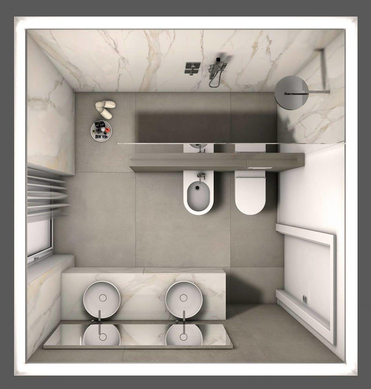Photo of Bagno elegante, disposizione degli spazi bagno in stile classico di fratelli pellizzari spa classico piastrelle   homify