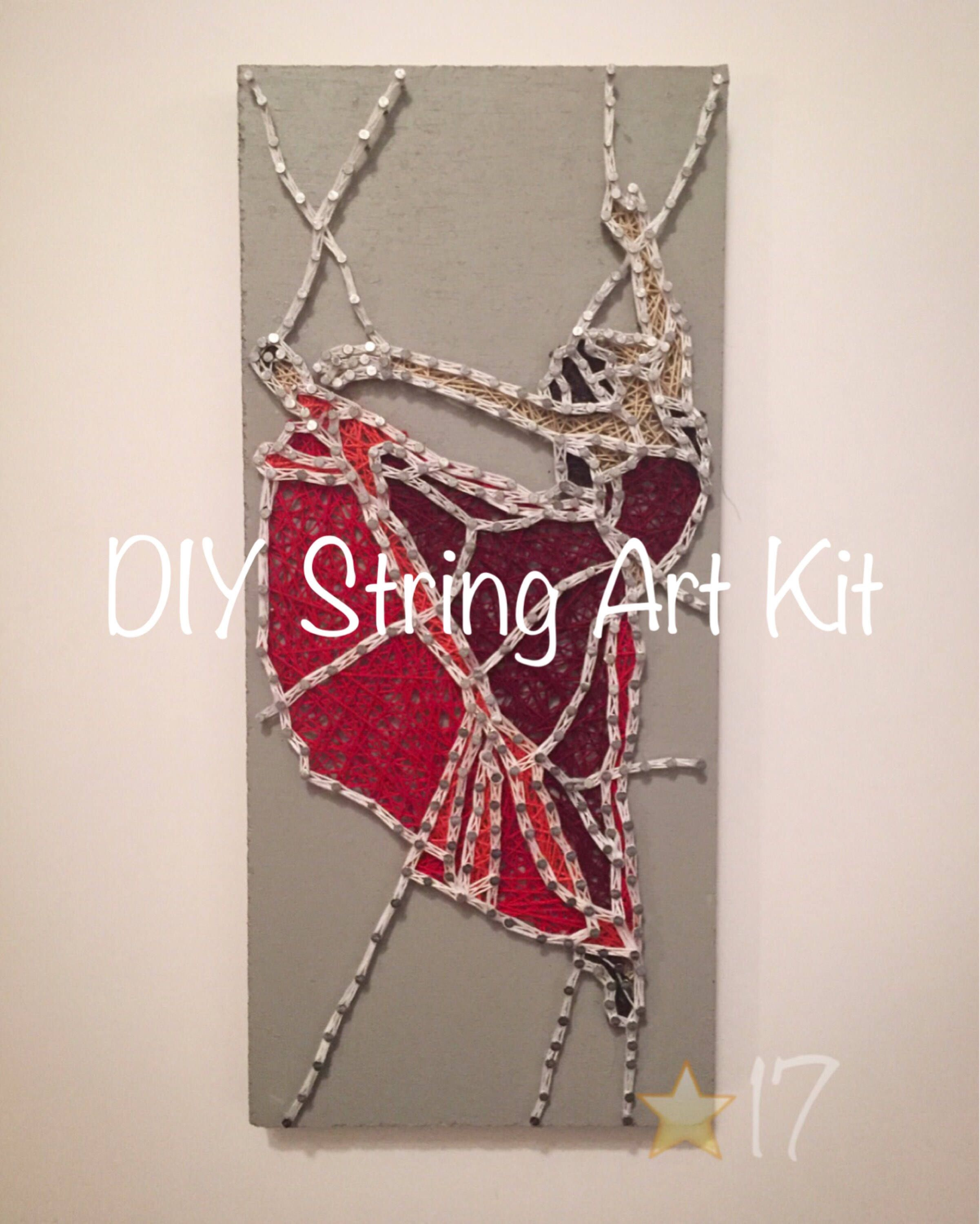 Diy Dancer String Art Kit, How To Stained Glass Effect