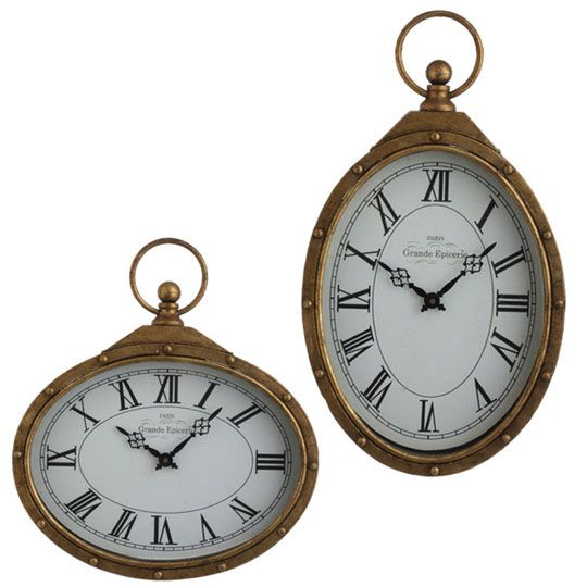Large Christmas clocks, great as a unique tree ornament..