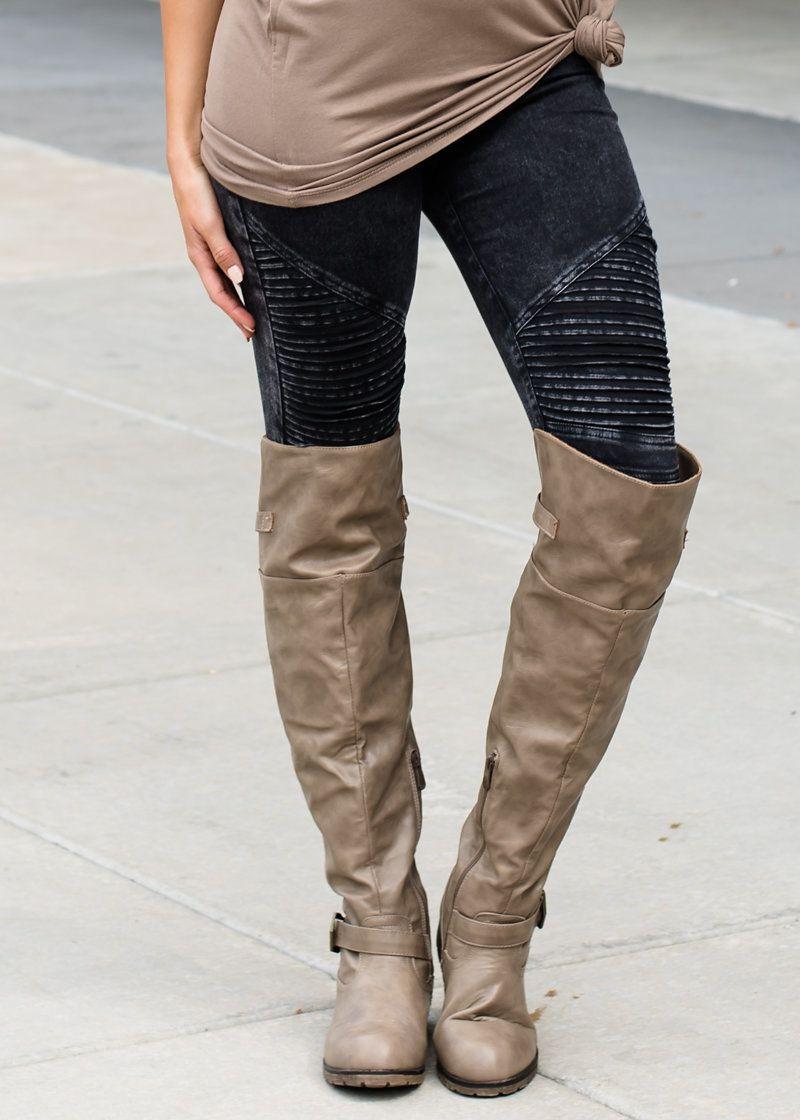 1c97a251c5a Women PU Leather Patchwork Jeans Pants Fashion Zippers Boots Trousers  Pencil Pants Plus Size PT-023 ...