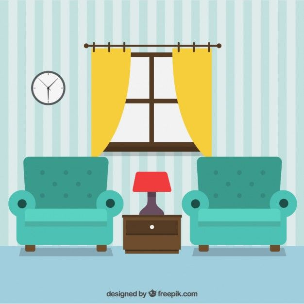 Living Room Decoration Free Vector