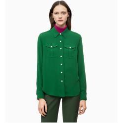 Outlet - Calvin Klein Twill-Hemd mit Tasche im Polizeilook 36 - Extra Sale Calvin Klein