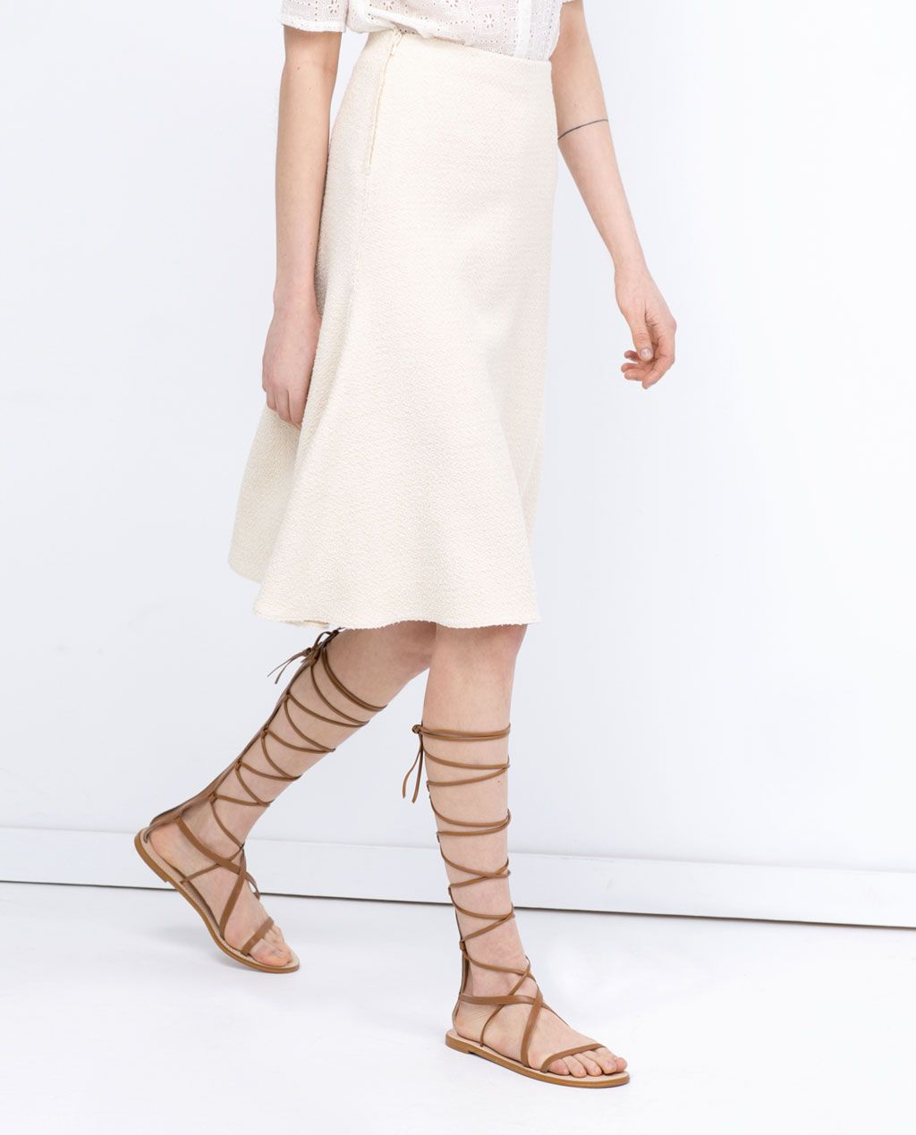 a02a57834907 ZARA - WOMAN - LEATHER GLADIATOR SANDALS