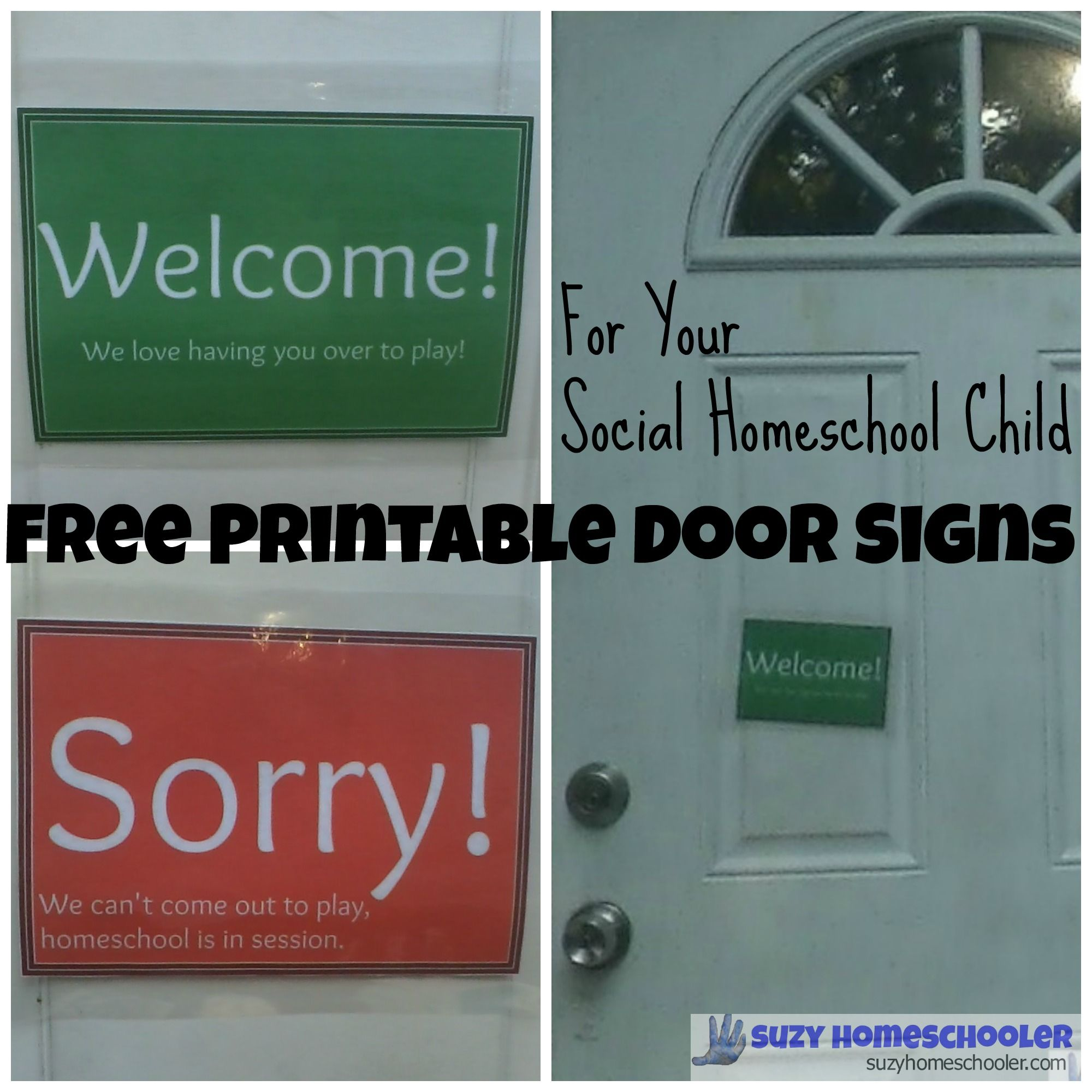 Free Printable Homeschool Door Signs 1
