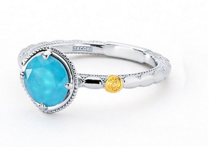 Blue stone ring by Tacori $210. Makes a nice gift