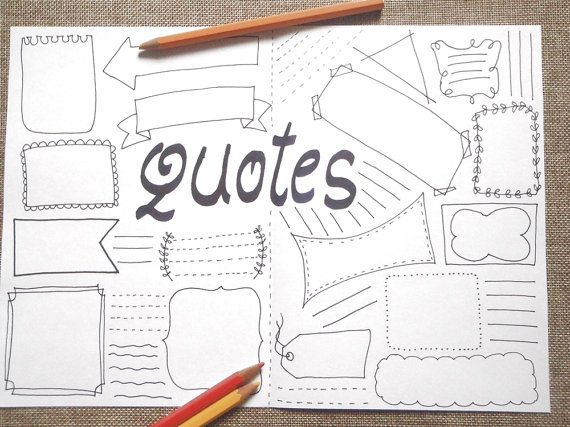 quotes blank boxes journal printable planner agenda journaling template layout   A4 page notebook with blank boxes where you can write the phrases and aphorisms you like print it and colour it with crayons as you like or you can leave it blank and use colored markers  for home work office home plan life planner. to forget nothing! a gift for woman teen coworker sister friend agenda organizer notebook planner plan diary schedule bullet scrapbooking  other pages…