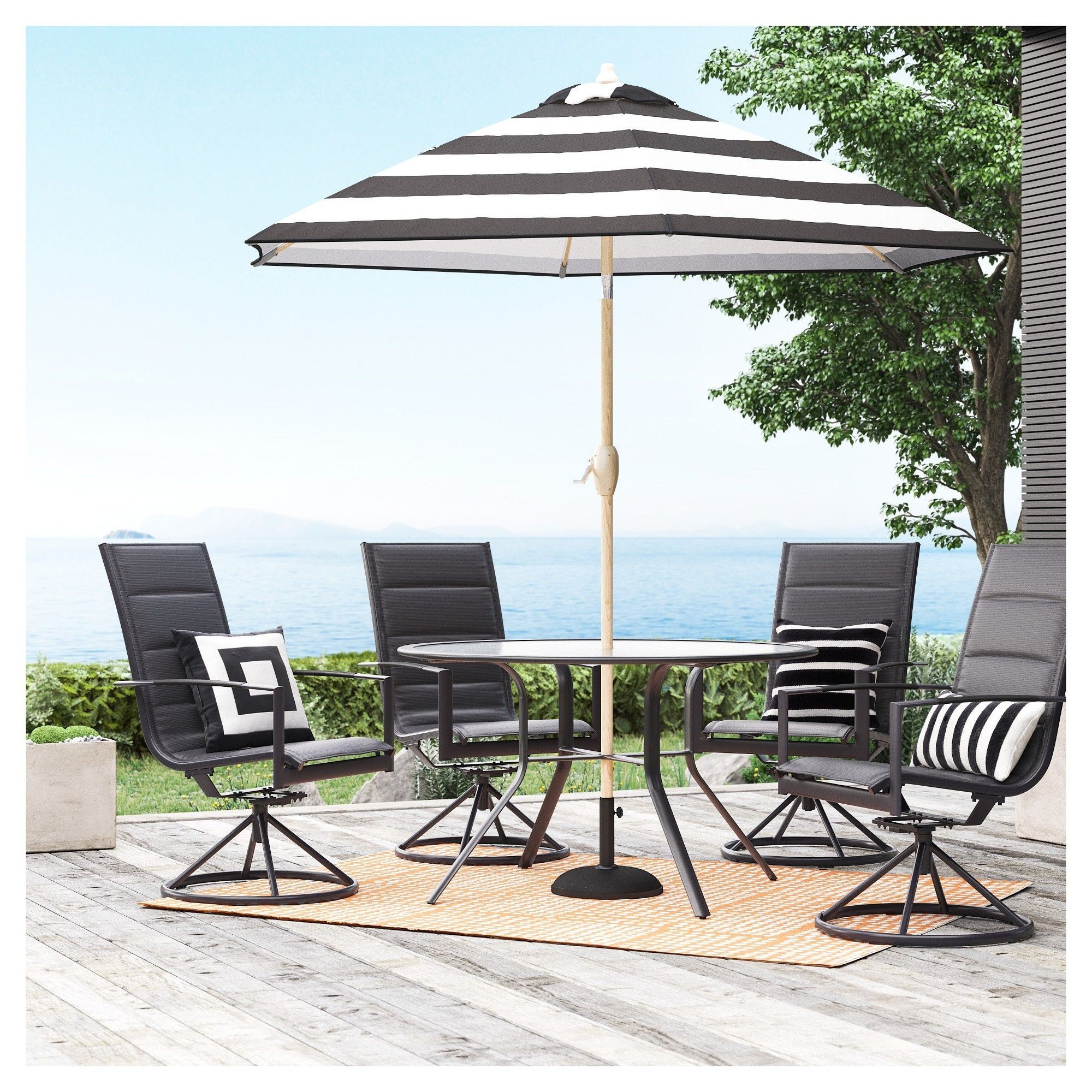 Swell Avalon 5Pc Sling Steel Patio Dining Set Project 62 Gmtry Best Dining Table And Chair Ideas Images Gmtryco