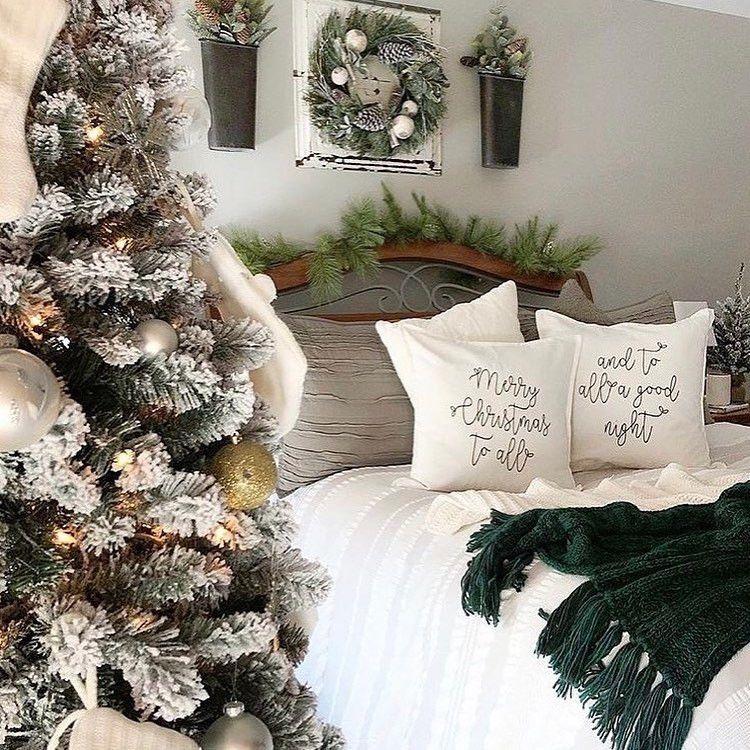 Cozy Winter Homedecor: 50 Trendy Cozy Christmas Bedroom Decorating Ideas