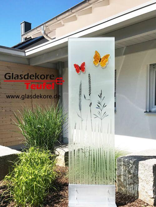 Sichtschutz Garten Glas im Garten Pinterest