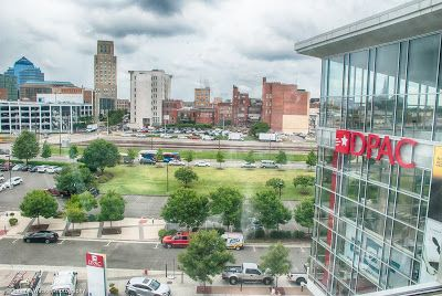 View Of Dpac From The Aloft Durham Downtown Nc Via Www Bitesofbullcity Durhamhotels