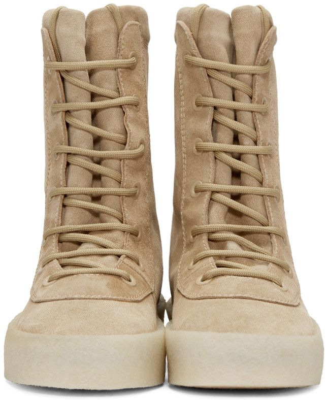 dd43994caea YEEZY Season 2 - Taupe Crepe Boots