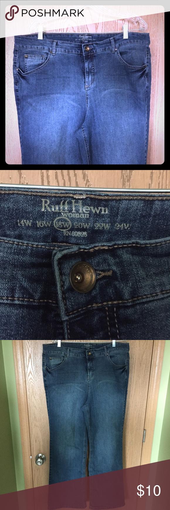 b1a49617a7c21 Ruff Hewn Plus Size Jean-Size 18 Plus Size Jean. Carsons brand. Good  condition still! Boot cut. Ruff Hewn Jeans Boot Cut
