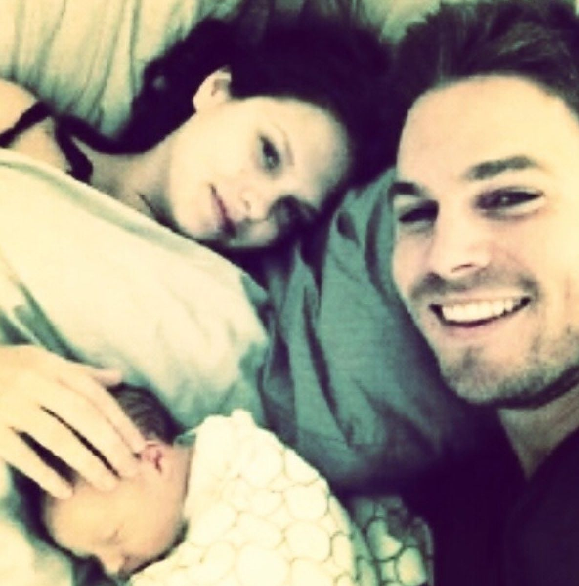Stephen Amell and Wife Cassandra Jean with their Baby Girl ...