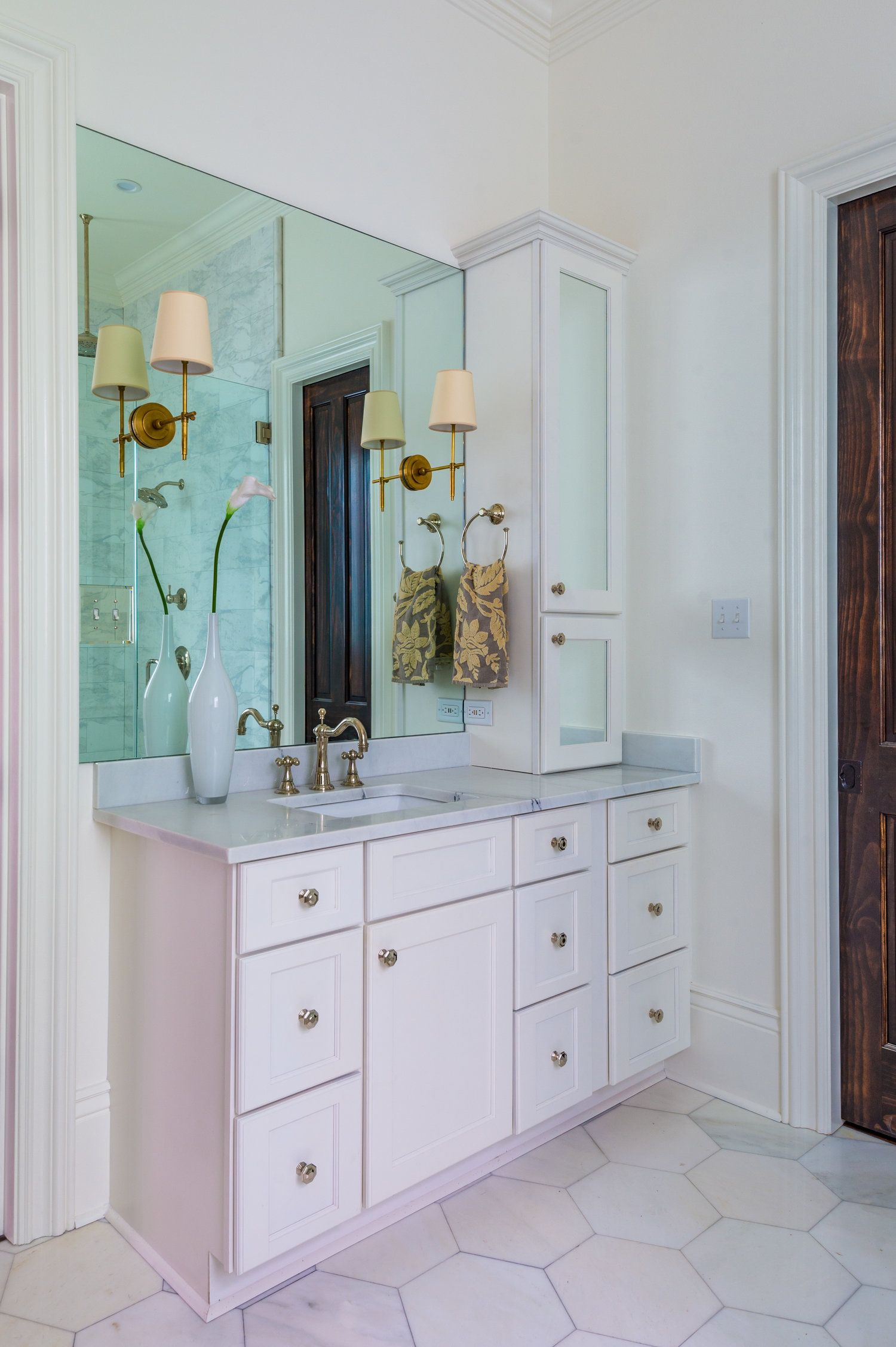 KHB Interiors Master Bathroom Vanity New Orleans Interior Decorator - Bathroom remodel metairie