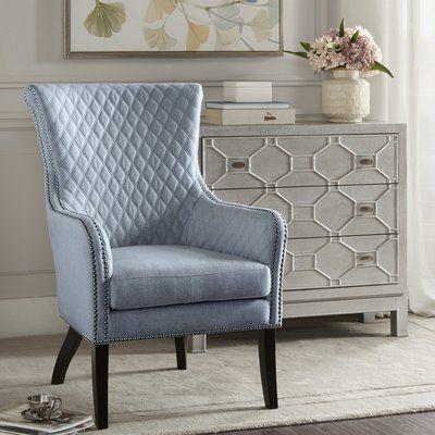 Alcott Hill Busti Armchair Upholstery Color Light Blue Accent
