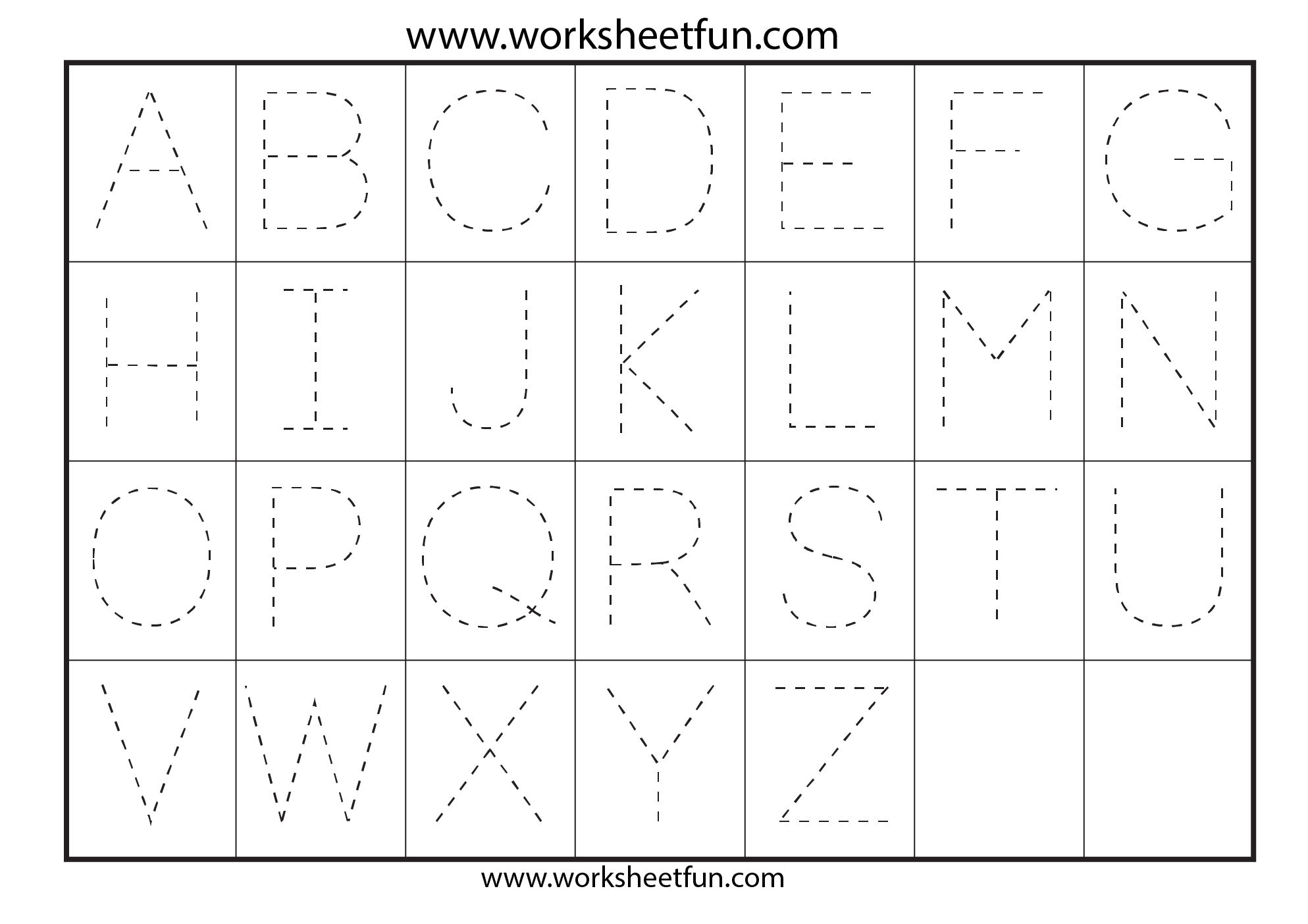 Letter Tracing Worksheets For Kindergarten - Capital Letters ...