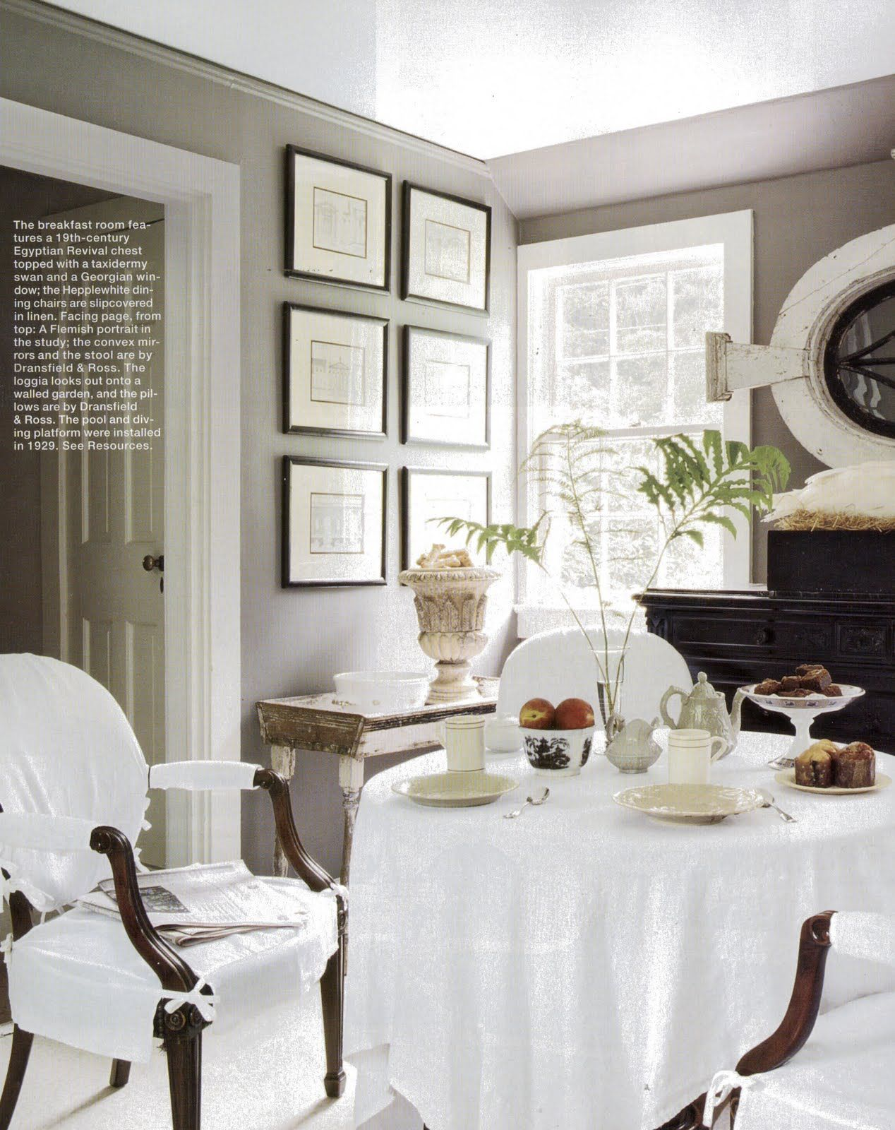 A divine dining room interior design john dransfield and for Room decor ross