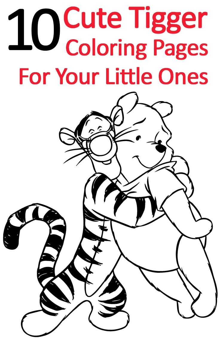 Free coloring pages winnie the pooh - Top 25 Free Printable Tigger Coloring Pages Online