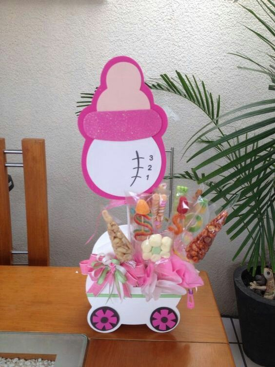 Centro De mesa para Babyshower Silhouette Pinterest