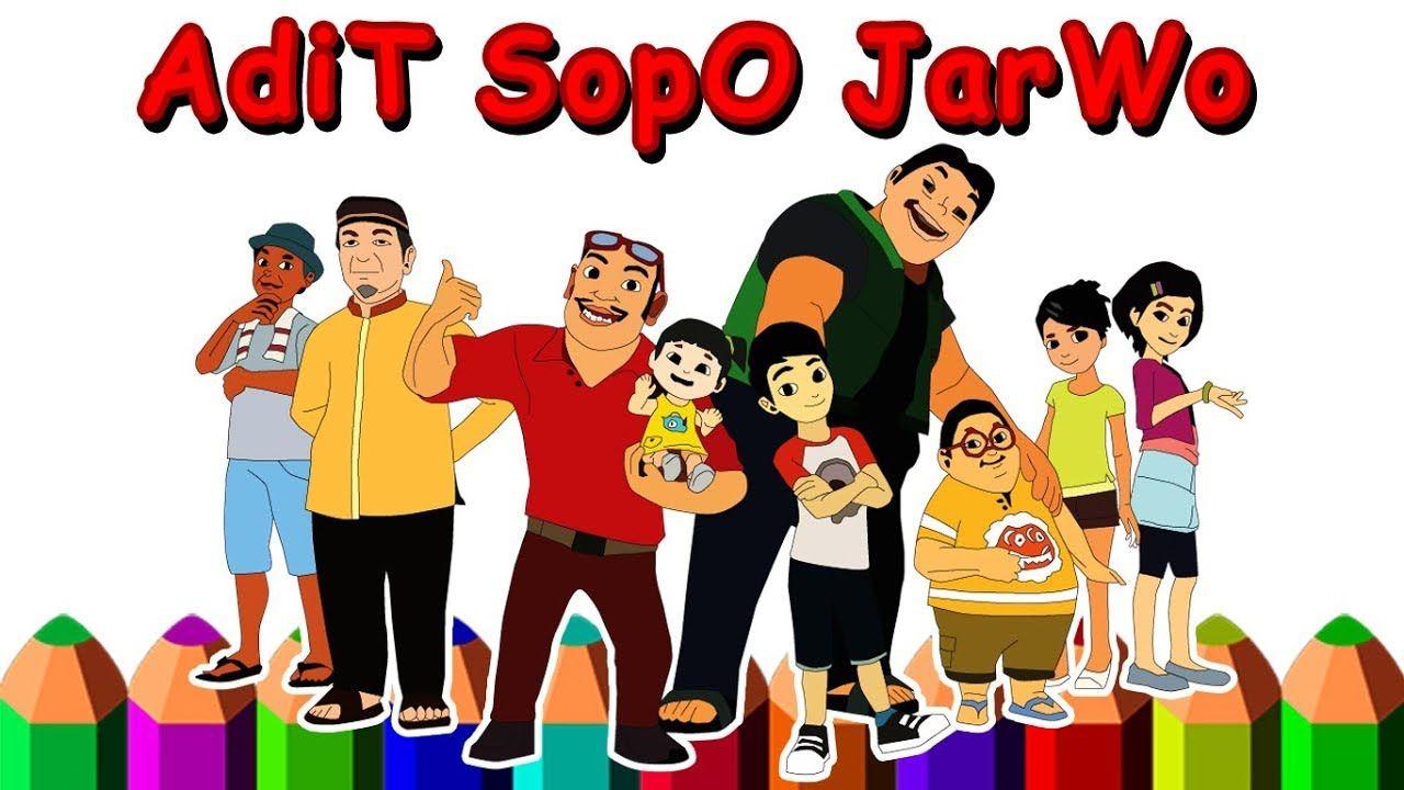 Adit Sopo Jarwo Menggambar Kartun Dengan Gambar Kartun Gambar