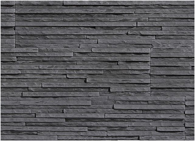 Castorama Pierre Parement Pallermo Graphite - Decorative Stone Tiles | Stone Texture
