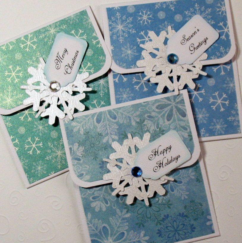 Handmade Christmas gift tags | tags gift card holders ...