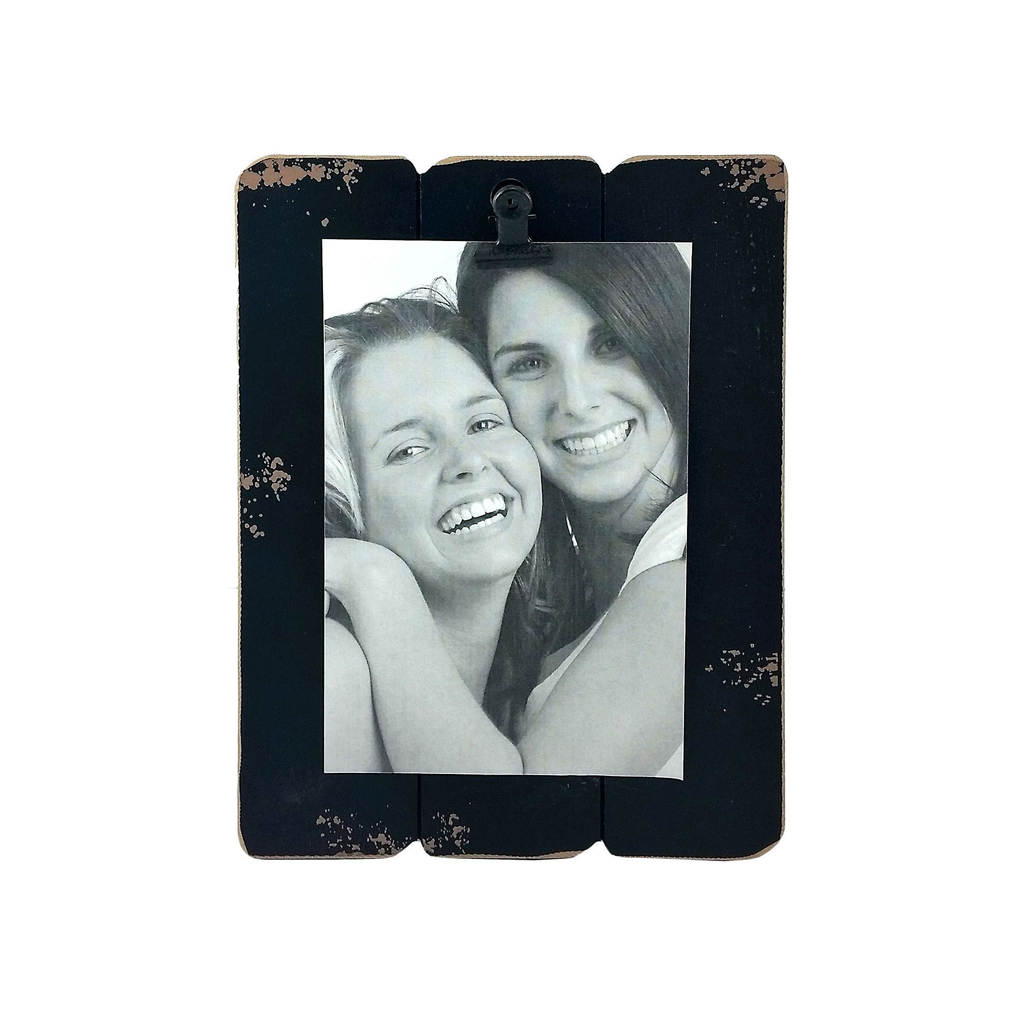 Fetco Home Decor Slats 4\'\' x 6\'\' Photo Clip Frame, Black | Products