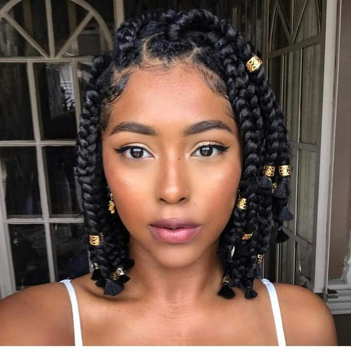Short Jumbo Box Braids Hair And Beauty Pinterest