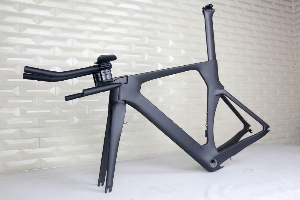include TRP brake, black matte  TT carbon frame . FM086 TT carbon frame .TT Triathlon Frameset, time trial frame